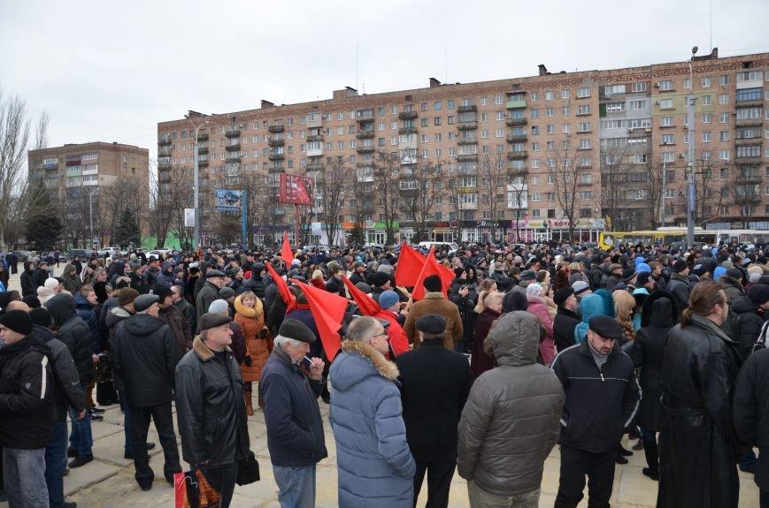В Мариуполе Антимайдан пришел к Ленину поговорить со сторонниками Майдана (Дополнено ФОТО), фото-81