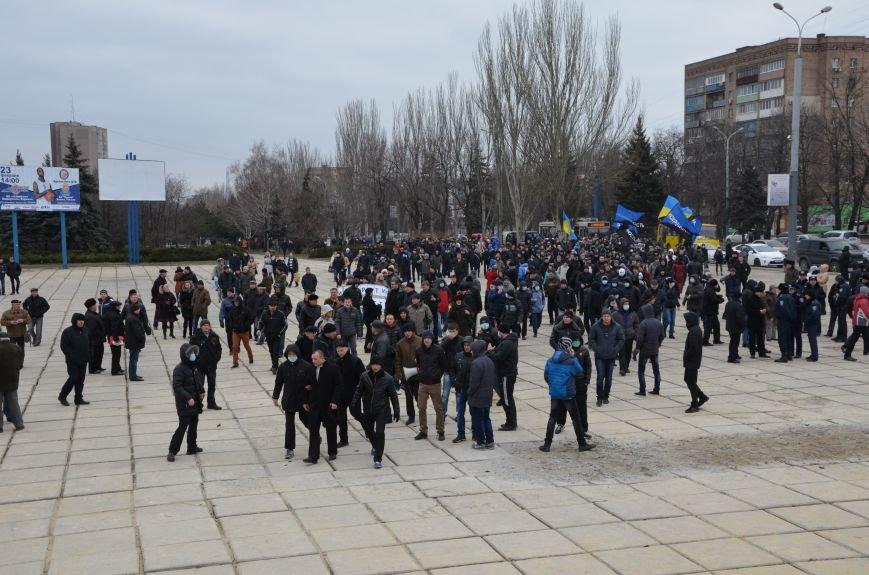 В Мариуполе Антимайдан пришел к Ленину поговорить со сторонниками Майдана (Дополнено ФОТО), фото-47