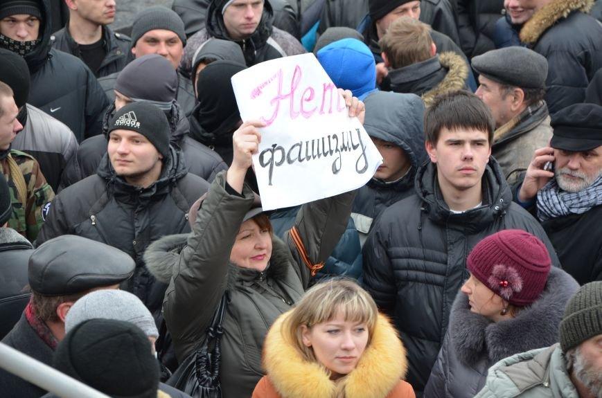 В Мариуполе Антимайдан пришел к Ленину поговорить со сторонниками Майдана (Дополнено ФОТО), фото-92