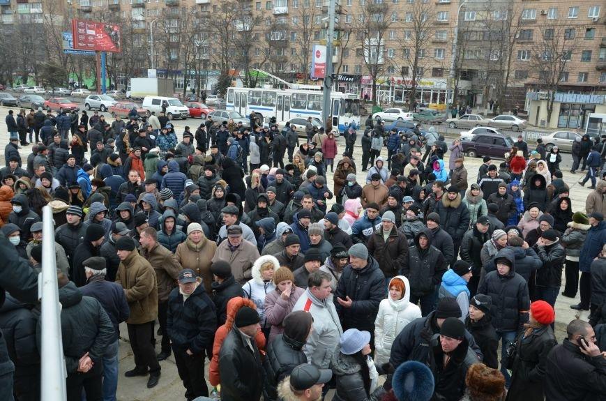 В Мариуполе Антимайдан пришел к Ленину поговорить со сторонниками Майдана (Дополнено ФОТО), фото-136