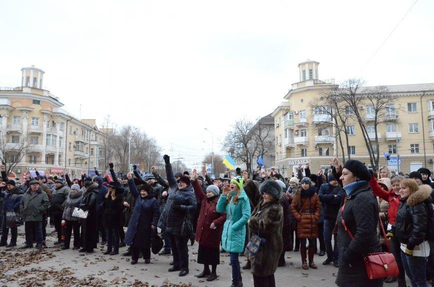 В Мариуполе Антимайдан пришел к Ленину поговорить со сторонниками Майдана (Дополнено ФОТО), фото-12