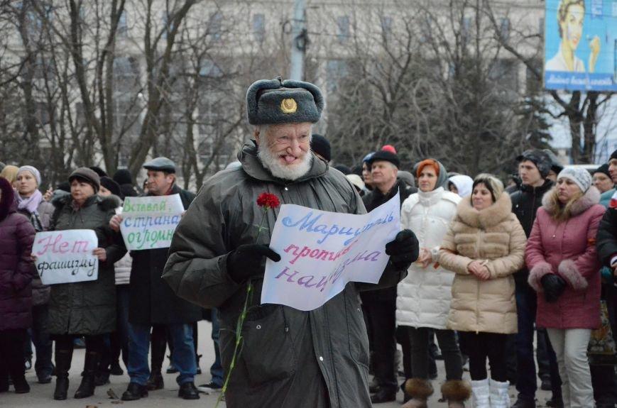 В Мариуполе Антимайдан пришел к Ленину поговорить со сторонниками Майдана (Дополнено ФОТО), фото-10