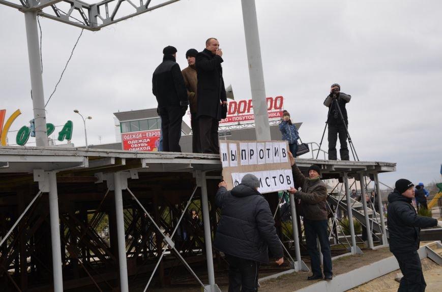 В Мариуполе Антимайдан пришел к Ленину поговорить со сторонниками Майдана (Дополнено ФОТО), фото-57