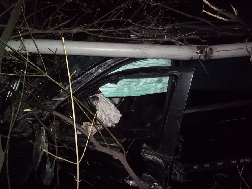 На спуске Веснина джип врезался в бордюр и сбил столб (ФОТО), фото-2
