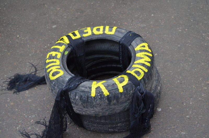 В центре Симферополя требуют отставки Куницына: активисты готовятся жечь покрышки (ФОТО), фото-6