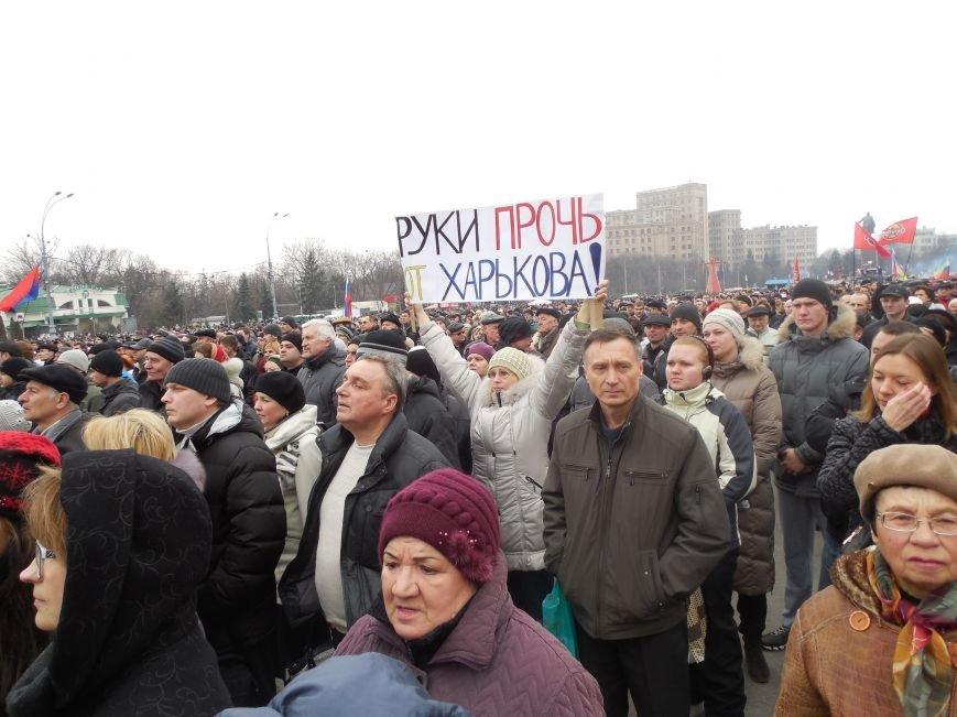 «Россия - SOS» или всего два украинских флага на многотысячную толпу: что происходит на площади Свободы (фото), фото-7