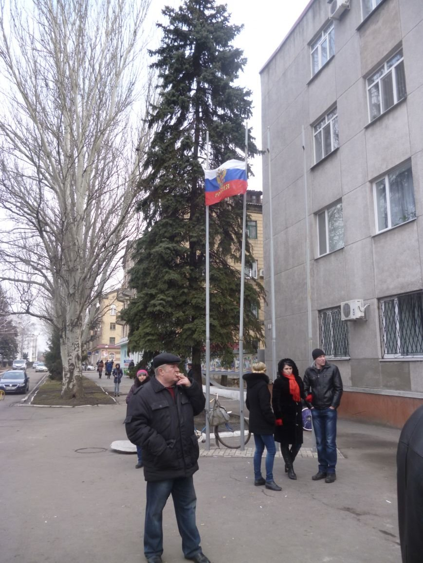 В Красноармейске  прошел митинг в поддержку Януковича. У горсовета поднят российский флаг (ФОТО), фото-15