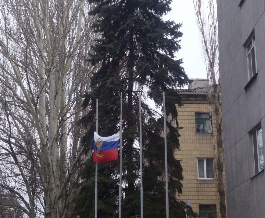 В Красноармейске  прошел митинг в поддержку Януковича. У горсовета поднят российский флаг (ФОТО), фото-8
