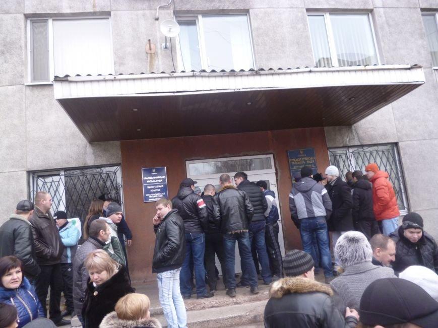 В Красноармейске  прошел митинг в поддержку Януковича. У горсовета поднят российский флаг (ФОТО), фото-14