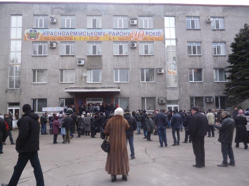 В Красноармейске  прошел митинг в поддержку Януковича. У горсовета поднят российский флаг (ФОТО), фото-16