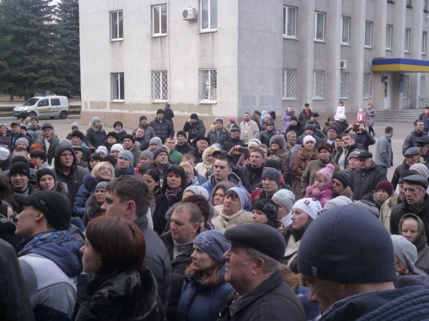 В Красноармейске  прошел митинг в поддержку Януковича. У горсовета поднят российский флаг (ФОТО), фото-7