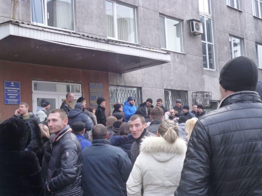 В Красноармейске  прошел митинг в поддержку Януковича. У горсовета поднят российский флаг (ФОТО), фото-3