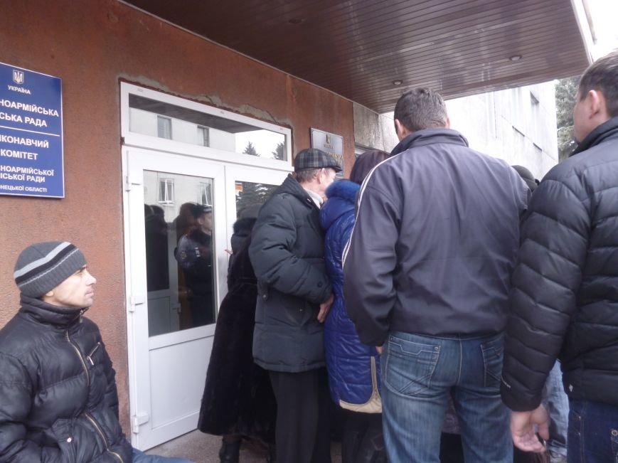 В Красноармейске  прошел митинг в поддержку Януковича. У горсовета поднят российский флаг (ФОТО), фото-13