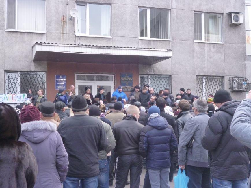 В Красноармейске  прошел митинг в поддержку Януковича. У горсовета поднят российский флаг (ФОТО), фото-10
