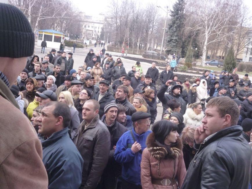 В Красноармейске  прошел митинг в поддержку Януковича. У горсовета поднят российский флаг (ФОТО), фото-6