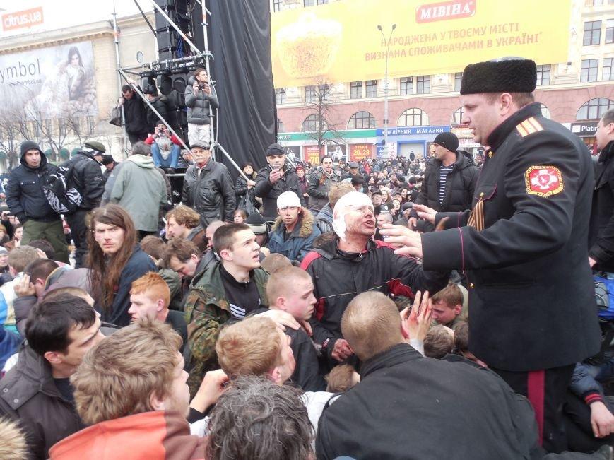 Захватчики ХОГА в крови. Толпа митингующих устроила самосуд над харьковскими евромайдановцами (ФОТО), фото-29