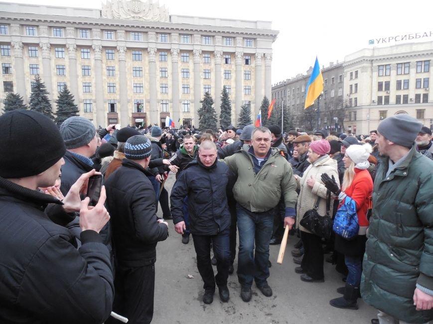 Захватчики ХОГА в крови. Толпа митингующих устроила самосуд над харьковскими евромайдановцами (ФОТО), фото-18