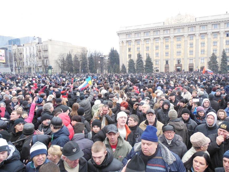 Захватчики ХОГА в крови. Толпа митингующих устроила самосуд над харьковскими евромайдановцами (ФОТО), фото-27