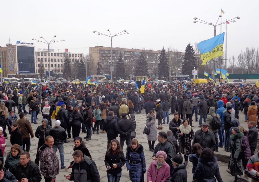 В Запорожье прошел митинг против вмешательства России (ФОТО, ОБНОВЛЕНО) (фото) - фото 2