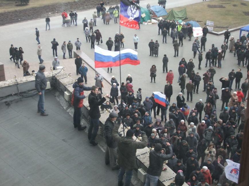 Донецкий облсовет, захваченный пророссийскими активистами,  решил провести референдум о вхождении в Россию (ФОТО), фото-1