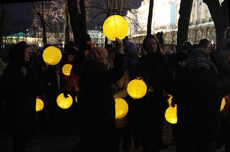Вечер зимнего света в Царском Селе, город Пушкин, 1 марта