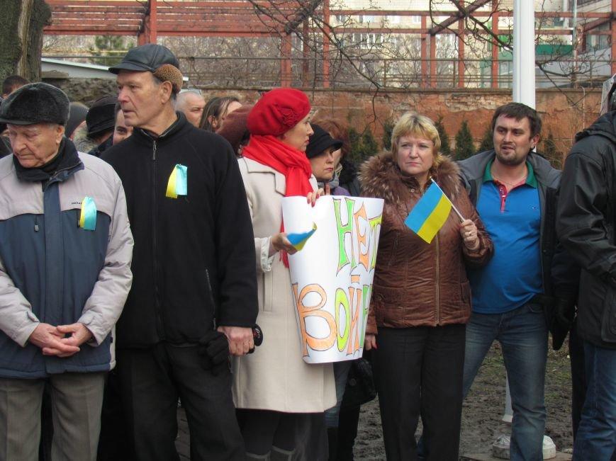 Нет войне! Под стенами  горсовета собрались сотни мариупольцев за единую Украину (ФОТО+Текст обращения+Дополнено), фото-10