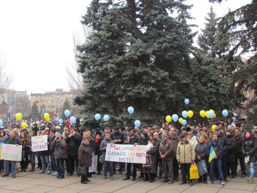 Нет войне! Под стенами  горсовета собрались сотни мариупольцев за единую Украину (ФОТО+Текст обращения+Дополнено), фото-45