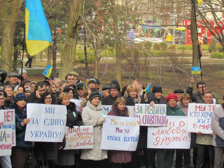 Нет войне! Под стенами  горсовета собрались сотни мариупольцев за единую Украину (ФОТО+Текст обращения+Дополнено), фото-18