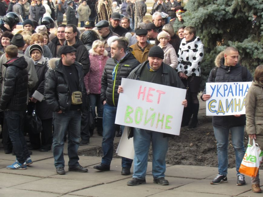 Нет войне! Под стенами  горсовета собрались сотни мариупольцев за единую Украину (ФОТО+Текст обращения+Дополнено), фото-5
