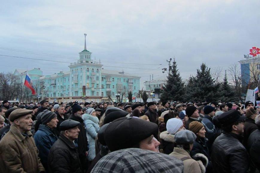 «Ни шагу назад»  - в Луганске митинговали за Россию (ФОТО), фото-7