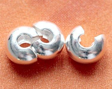 Фурнитура для браслетов, пример бусин-кримпов