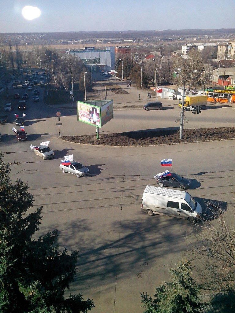 По Луганску движется автомобильная колонна с флагами России (ФОТО), фото-2