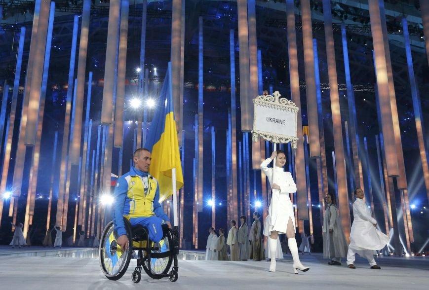Михаил Ткаченко был единственным из украинцев, кто принял участие в открытии Паралимпиады в Сочи