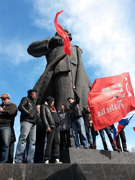 Антифашистский митинг в Мариуполе 8 марта (фото), фото-24