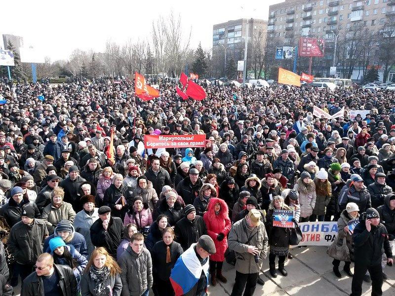 Антифашистский митинг в Мариуполе 8 марта (фото), фото-25