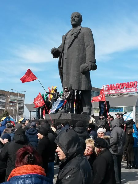 Антифашистский митинг в Мариуполе 8 марта (фото), фото-18