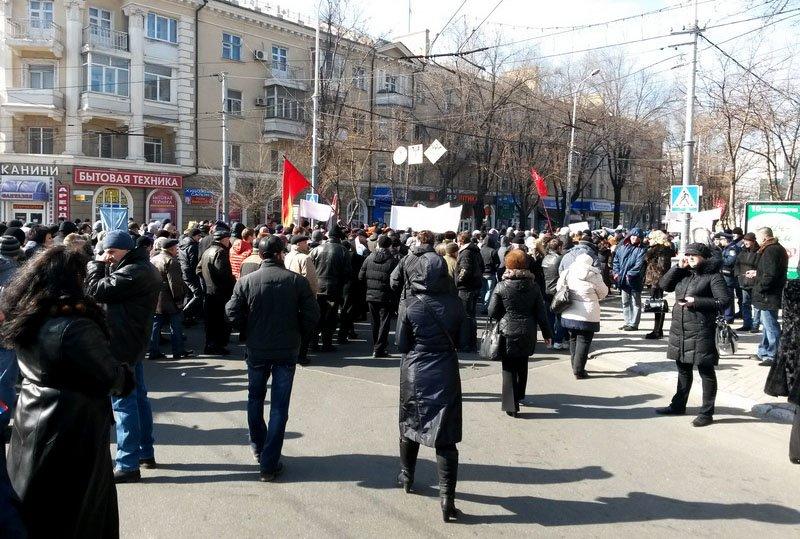 Антифашистский митинг в Мариуполе 8 марта (фото), фото-9