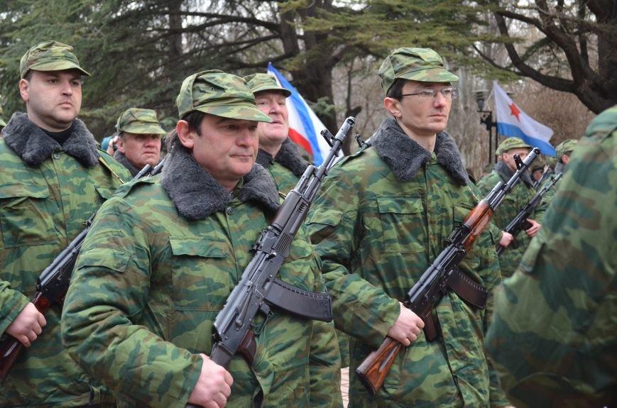 В Симферополе начали формировать Вооруженные силы Крыма (ФОТО, ВИДЕО), фото-6