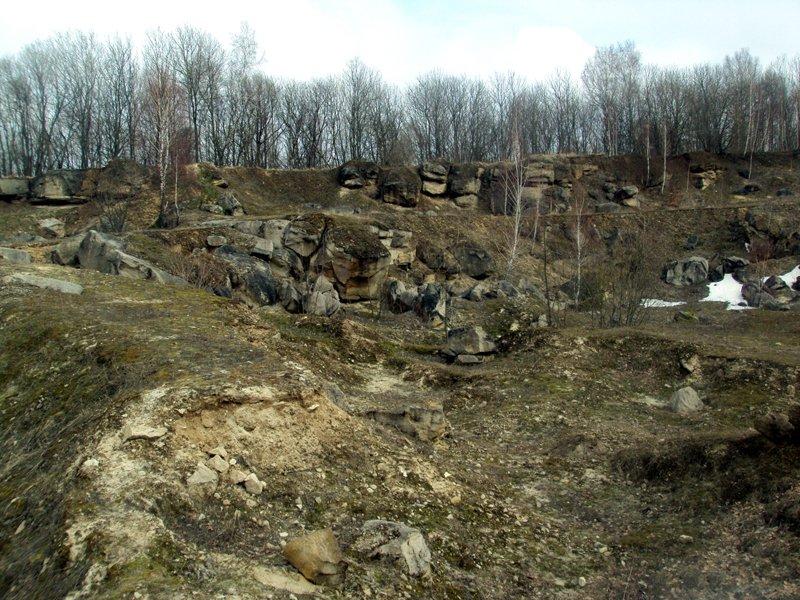 Залишки каменоломні на Вороняцькому кряжі