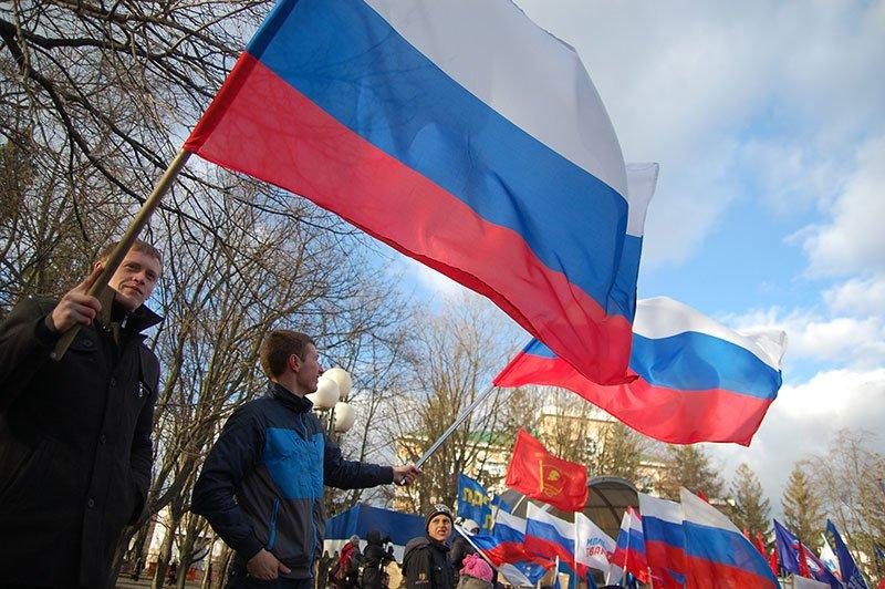 В Белгороде устроили митинг в честь результатов референдума в Крыму, фото-8
