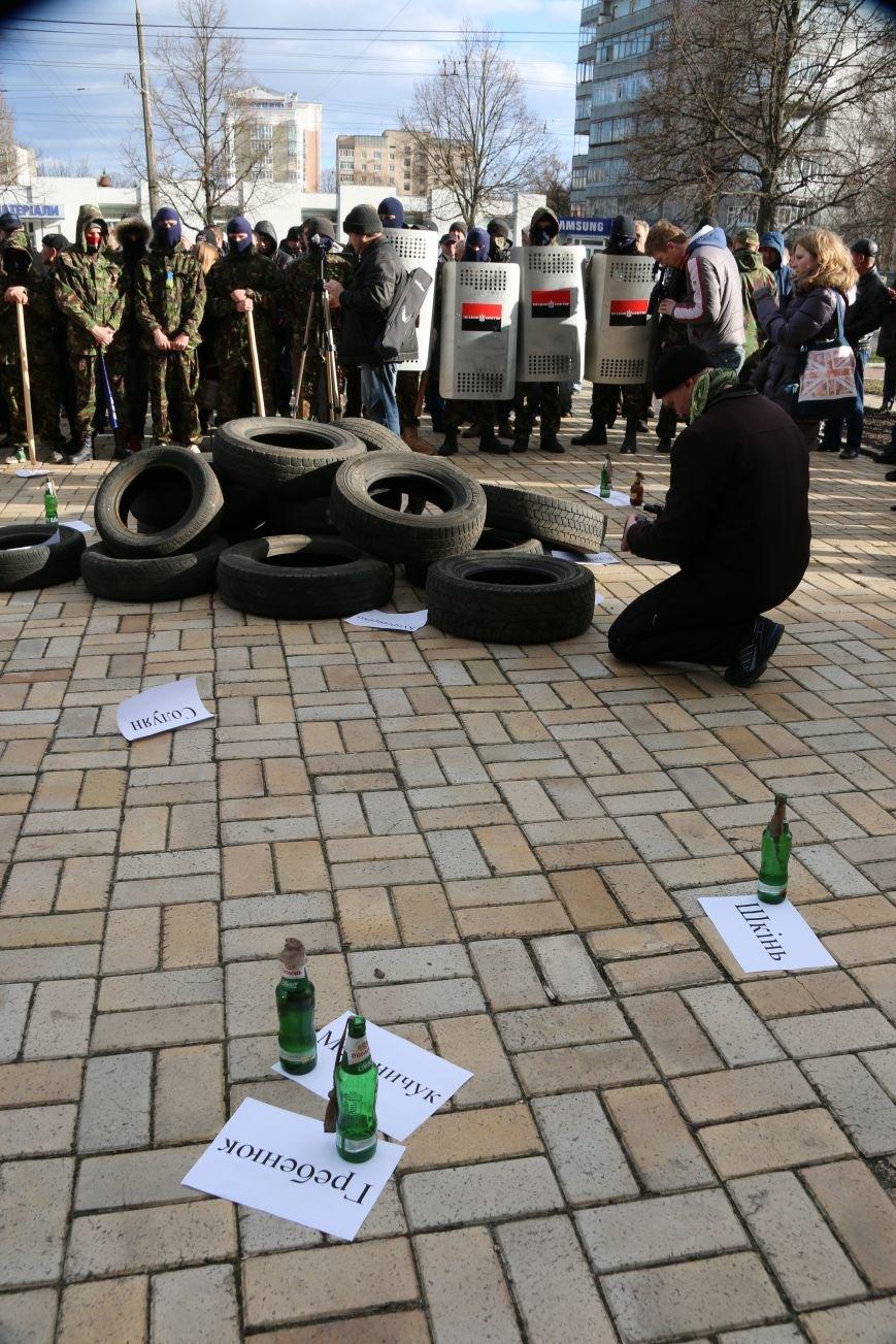 Протест перед милицией: шашки, крики и гарь, фото-3