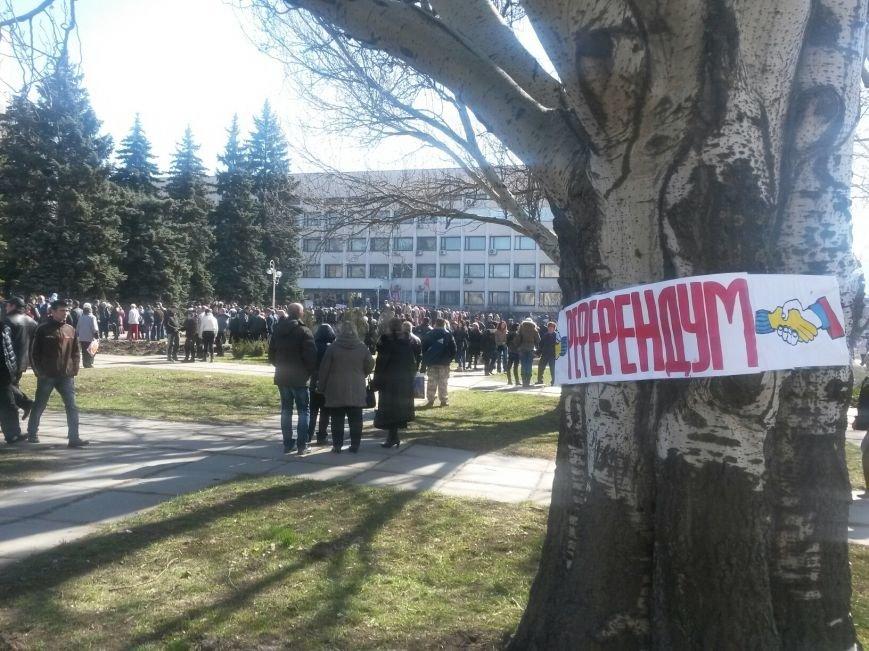 В Мариуполе начался митинг в поддержку Виктора Януковича, к которому в итоге  записали обращение (Обновляется, ФОТО, Видео), фото-1