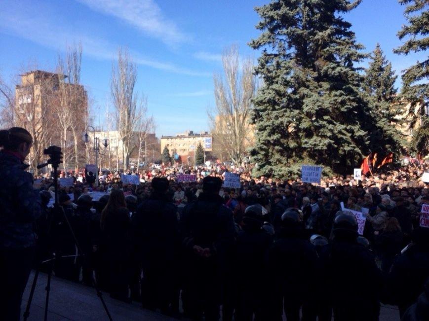 В Мариуполе начался митинг в поддержку Виктора Януковича, к которому в итоге  записали обращение (Обновляется, ФОТО, Видео), фото-6