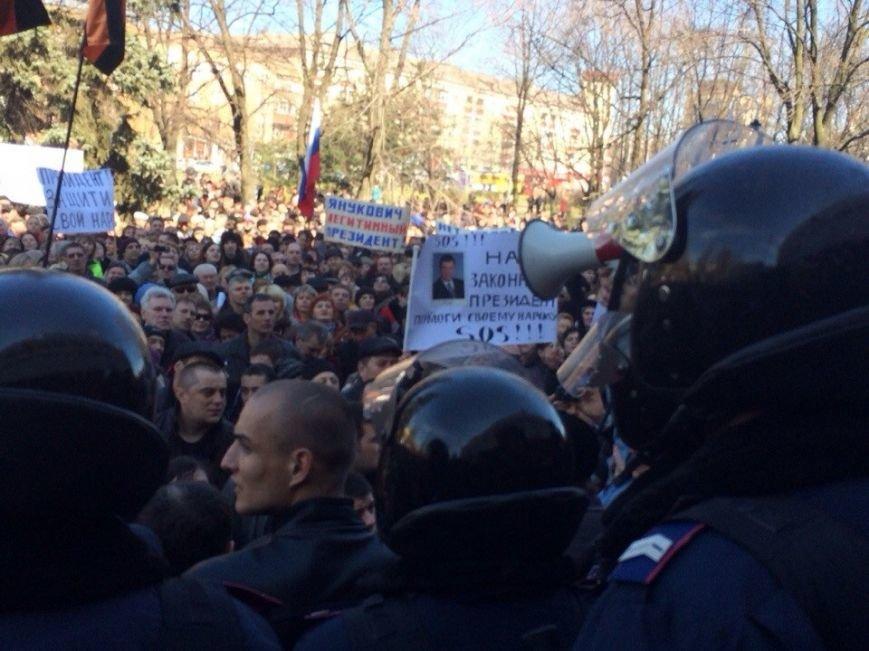 В Мариуполе начался митинг в поддержку Виктора Януковича, к которому в итоге  записали обращение (Обновляется, ФОТО, Видео), фото-7