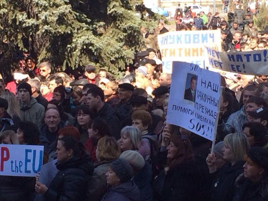 В Мариуполе начался митинг в поддержку Виктора Януковича, к которому в итоге  записали обращение (Обновляется, ФОТО, Видео), фото-4