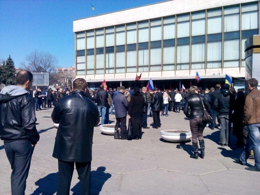 В Днепропетровске уже традиционно провели пророссийский митинг (ФОТОРЕПОРТАЖ), фото-1