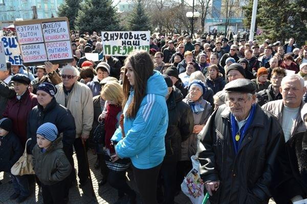 Как в Луганске проходил пророссийский митинг (ФОТО), фото-6
