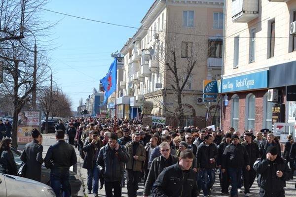 Как в Луганске проходил пророссийский митинг (ФОТО), фото-11