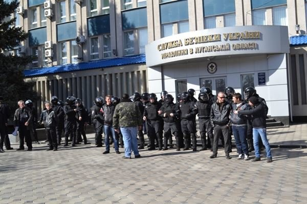 Как в Луганске проходил пророссийский митинг (ФОТО), фото-12