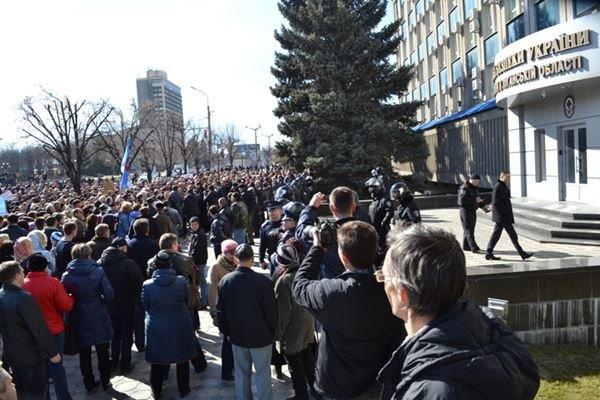 Как в Луганске проходил пророссийский митинг (ФОТО), фото-15
